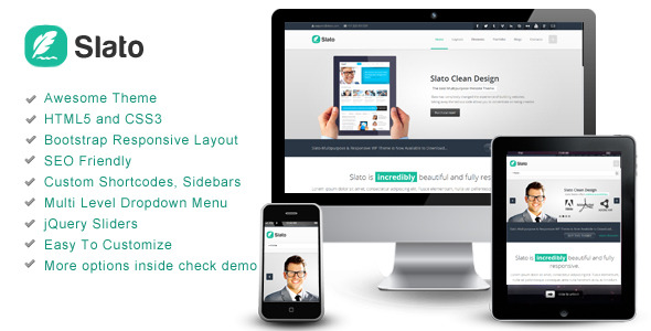 Slato - Bootstrap Responsive Template