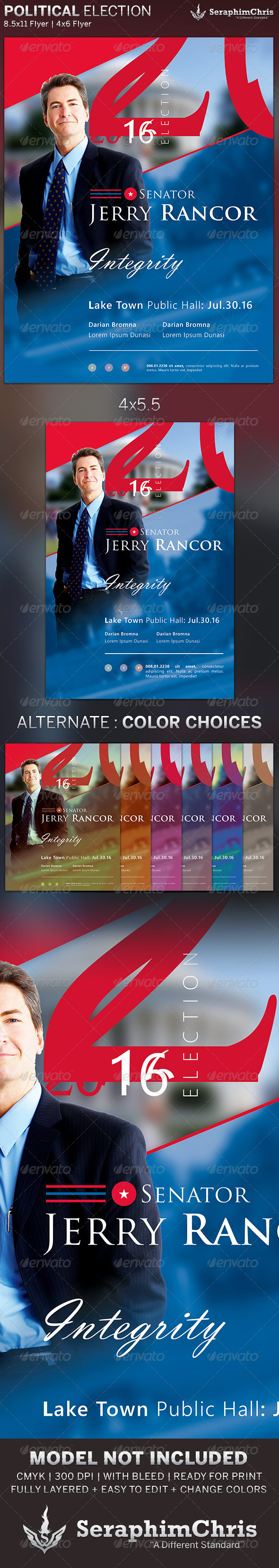 GraphicRiver Political Election Flyer Template 6390318