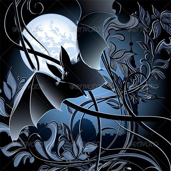 GraphicRiver Flying Bat 6390378