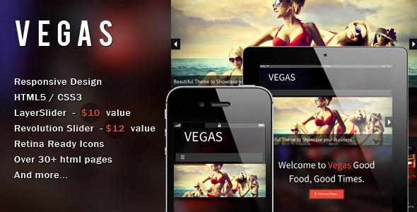 Vegas - Responsive HTML5 Template