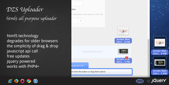 DZS Uploader - All purpose html5 uploader - CodeCanyon Item for Sale