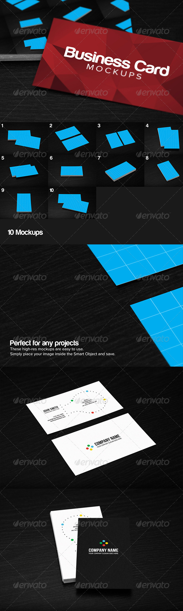 GraphicRiver 10 Business Card Mockups 6329410