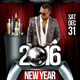 2016 New Year (Flyer Template 4x6) - GraphicRiver Item for Sale