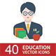 School & Education Icons - GraphicRiver Item for Sale