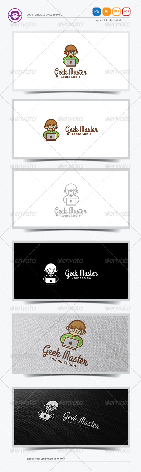 GraphicRiver Geek Master Logo Template 6390631