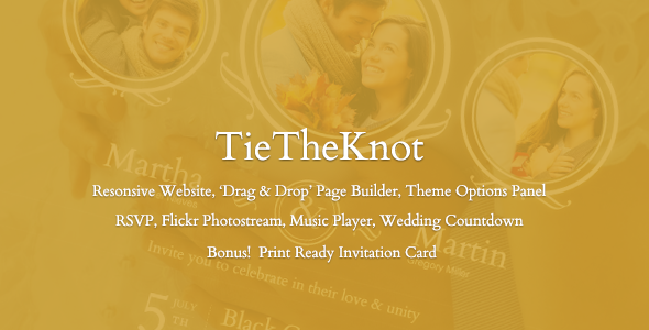 TieTheKnot - Responsive Wedding Theme
