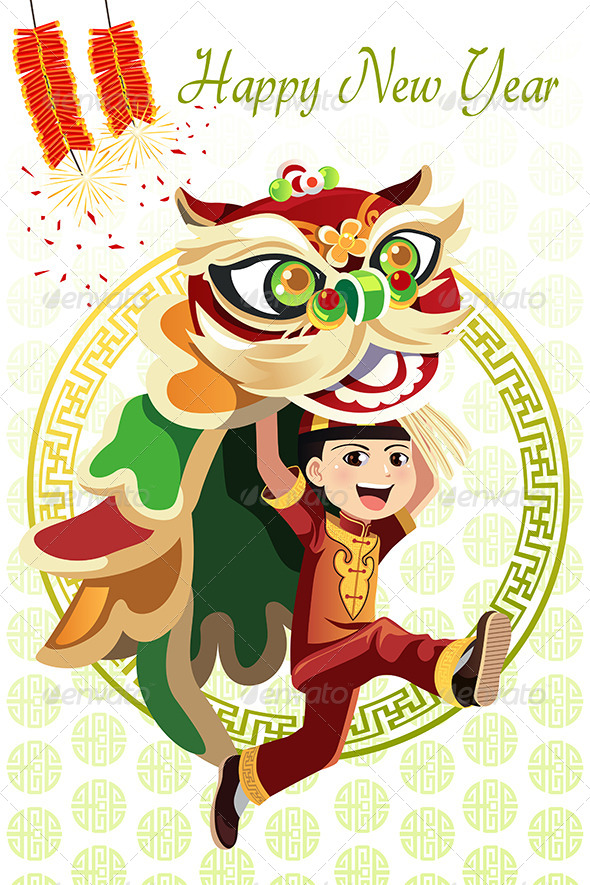 GraphicRiver Chinese Lion Dance 6390663