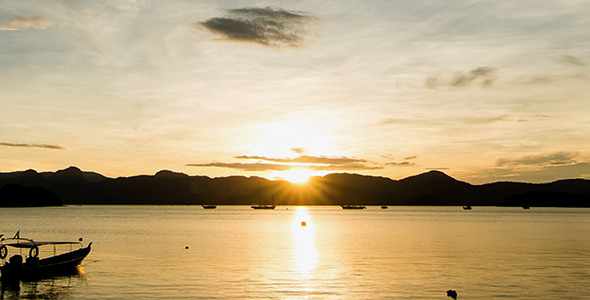 Zooming In Langkawi Island Sunrise Time Lapse