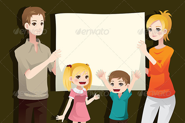 GraphicRiver Family Holding a Blank Paper 6390785