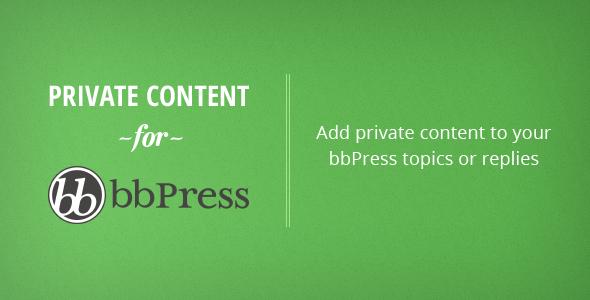 CodeCanyon bbPress Private Content WordPress Plugin 6390878
