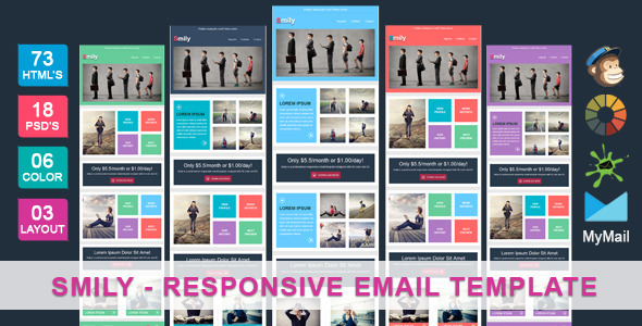 Smily - Clean & Cool Responsive Email Template - Newsletters Email Templates