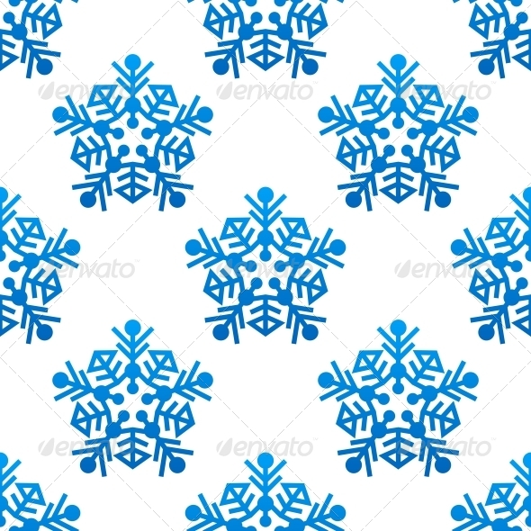 GraphicRiver Snowflakes Seamless Pattern Background 6391162