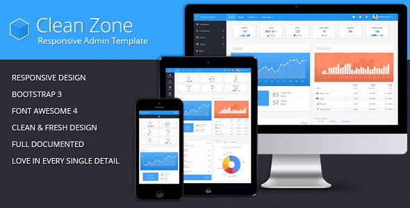 Clean Zone - Responsive Admin Template - Admin Templates Site Templates