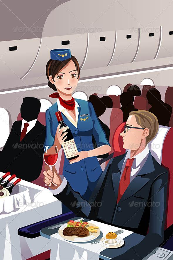 GraphicRiver Flight Attendant 6391273