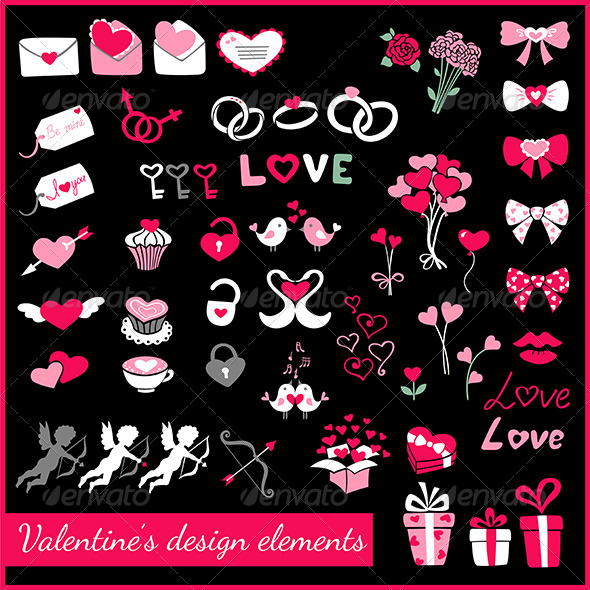 GraphicRiver Valentine s Design Elements 6391277