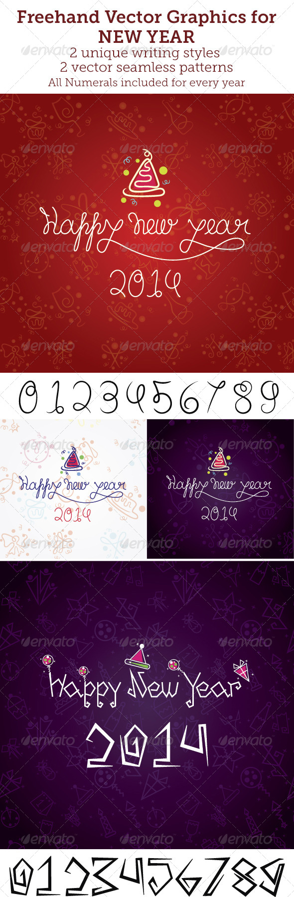 GraphicRiver Freehand Vector Graphics for New Year 6391292