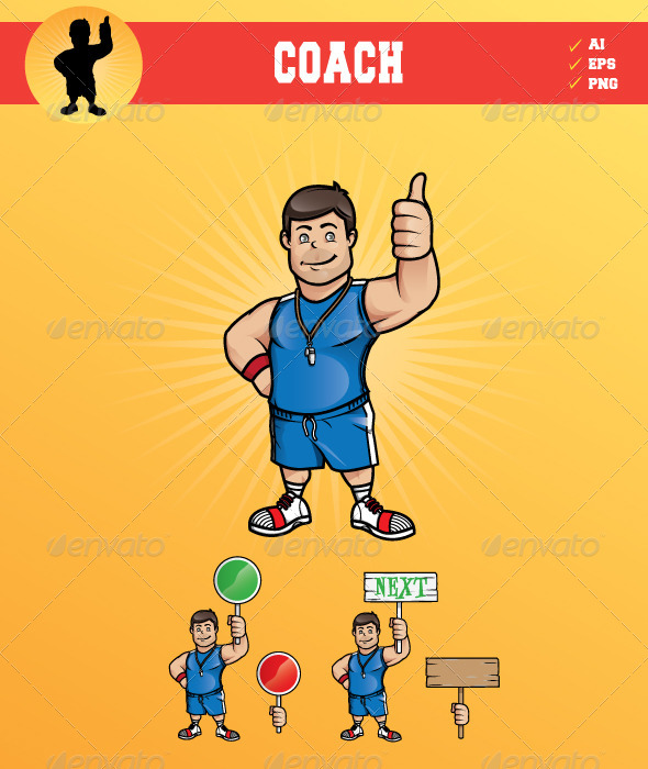 GraphicRiver Smiling Coach 6391580