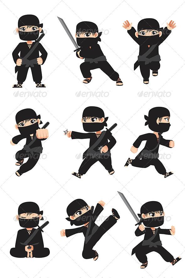 GraphicRiver Kid Ninja 6391586