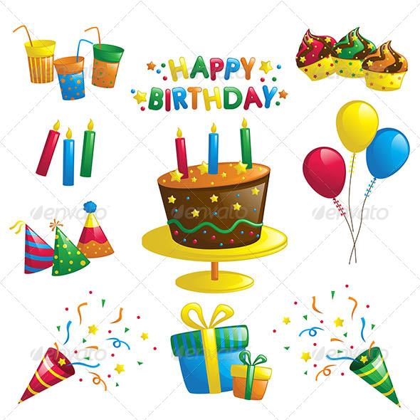 GraphicRiver Birthday Icons 6391671
