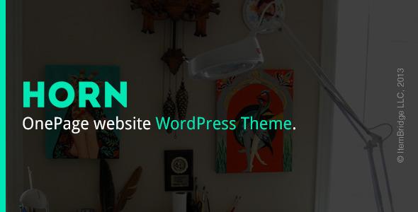 Horn — Responsive OnePage WordPress Theme