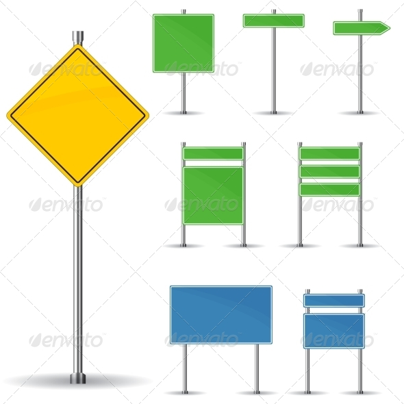 GraphicRiver Blank Road Signs 6391750