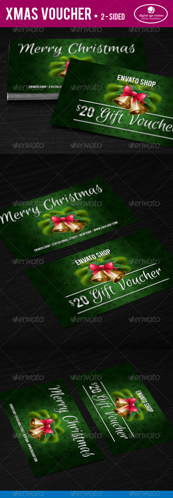 GraphicRiver Xmas Gift Voucher 6391801