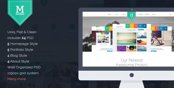 Matibay - Agency & Business PSD Template -