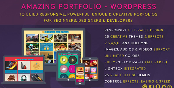 CodeCanyon Amazing Portfolio WordPress 6391818