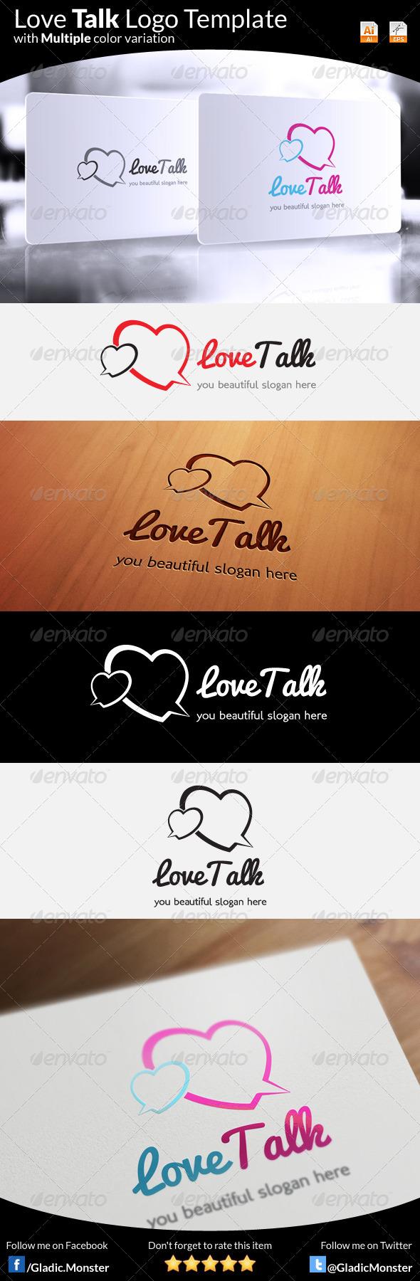 GraphicRiver Love Talk Logo 6392077
