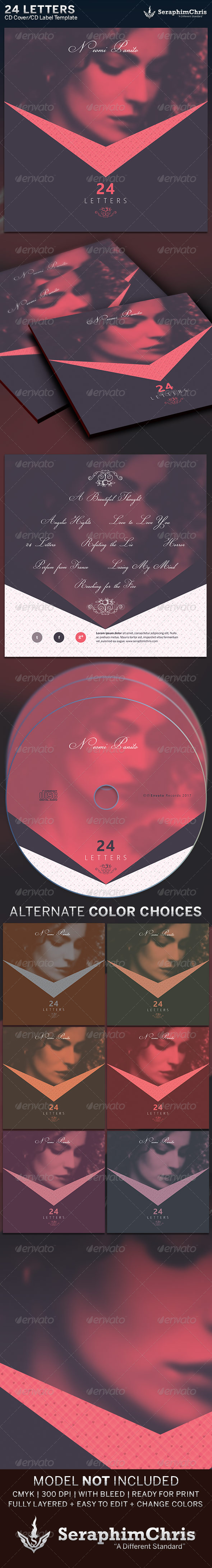 GraphicRiver 24 Letters CD Cover Artwork Template 6392085