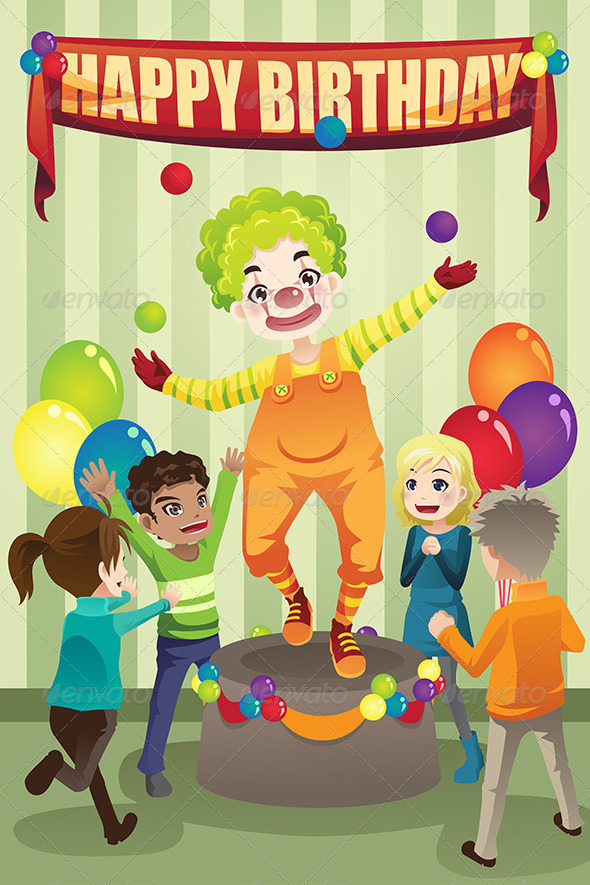 GraphicRiver Birthday Party Clown 6392175