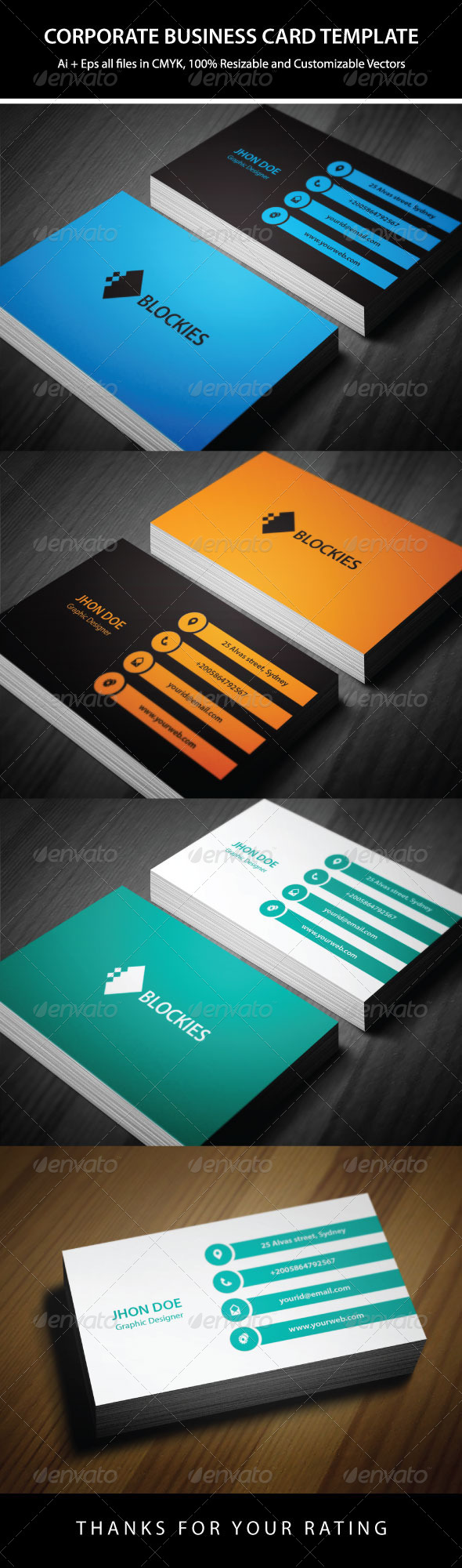 GraphicRiver 3 Colors Exclusive Business Card 6392307