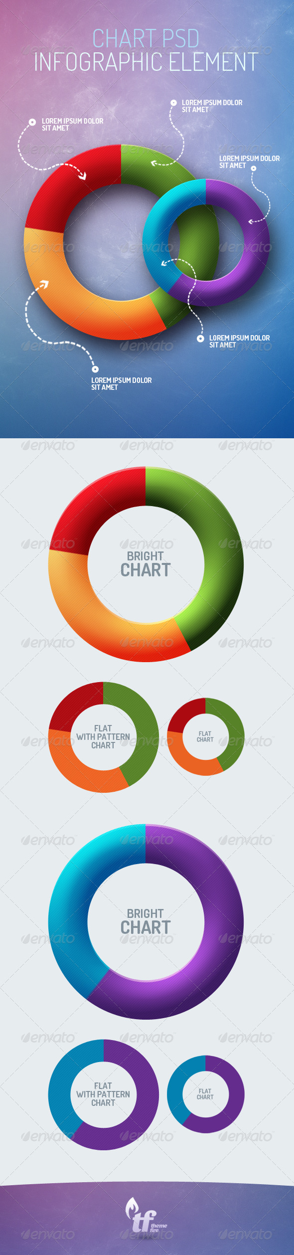 GraphicRiver Pie Chart Infographic Element PSD 6387888