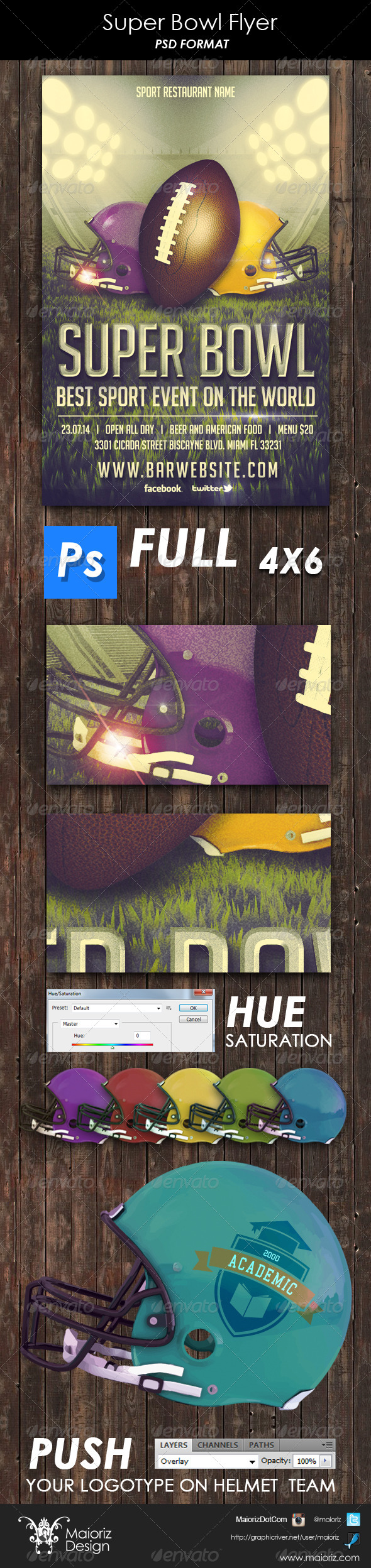 GraphicRiver Super Bowl Flyer Template 6392423