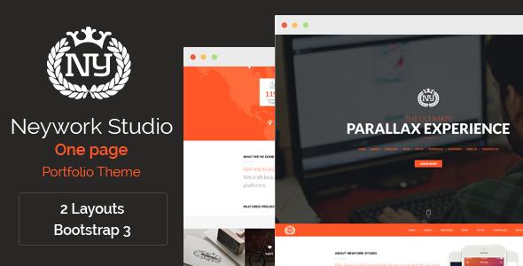 ThemeForest Newyork Studio One Page Parallax Theme 6392692