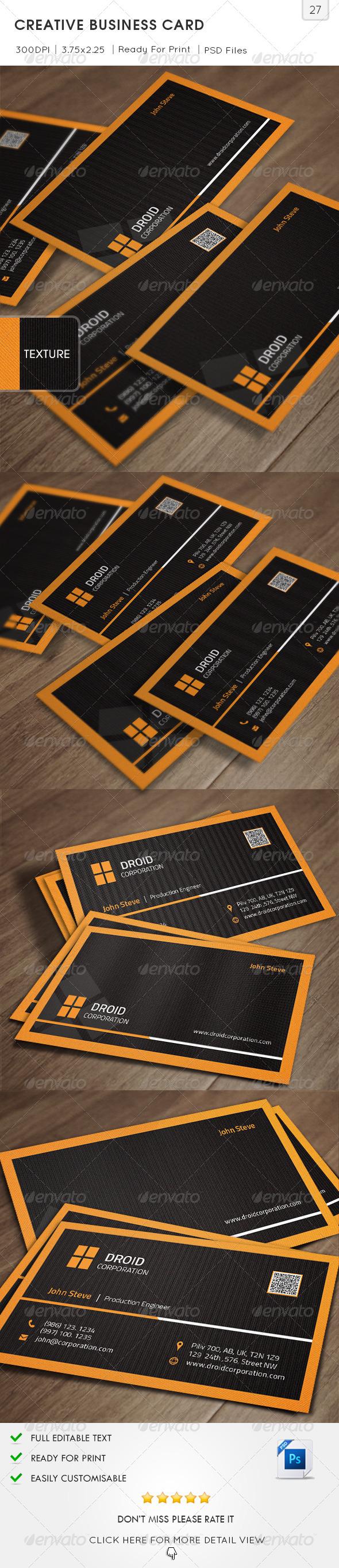 GraphicRiver Creative Business Card v27 6393145