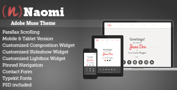 Naomi | Adobe Muse Portfolio Theme