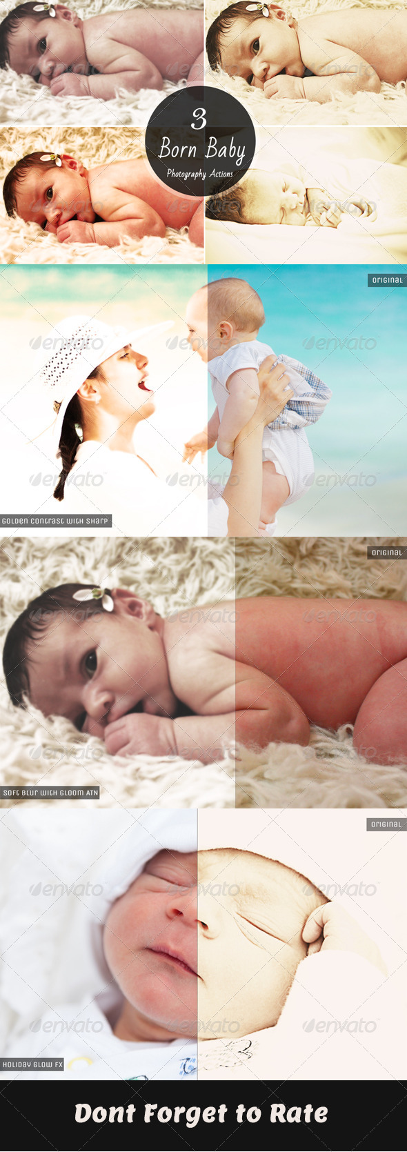 GraphicRiver Born Baby Photography Actions 6393414