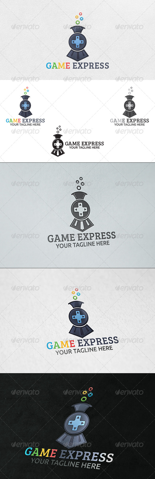 GraphicRiver Game Express Logo Template 6393581