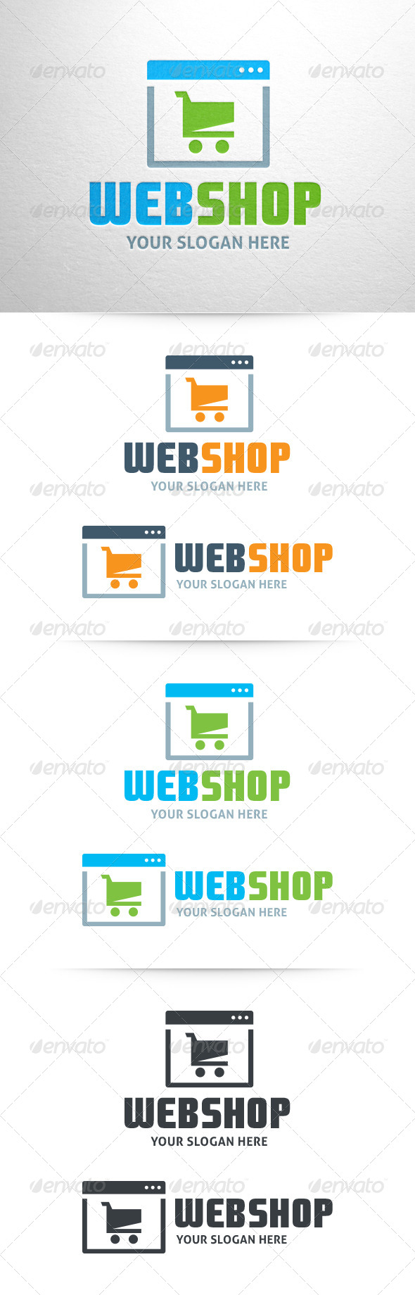 GraphicRiver Webshop Logo Template 6393631