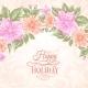 Sakura Holiday Invitation Card.