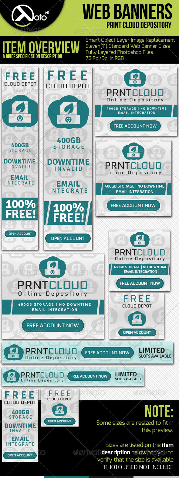 GraphicRiver Print Cloud Online Depository Web Banners 6393881