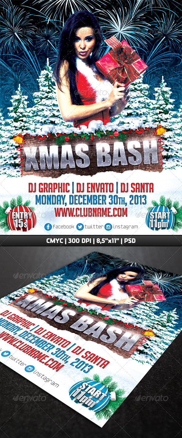 GraphicRiver Xmas Bash Flyer Template 6363623