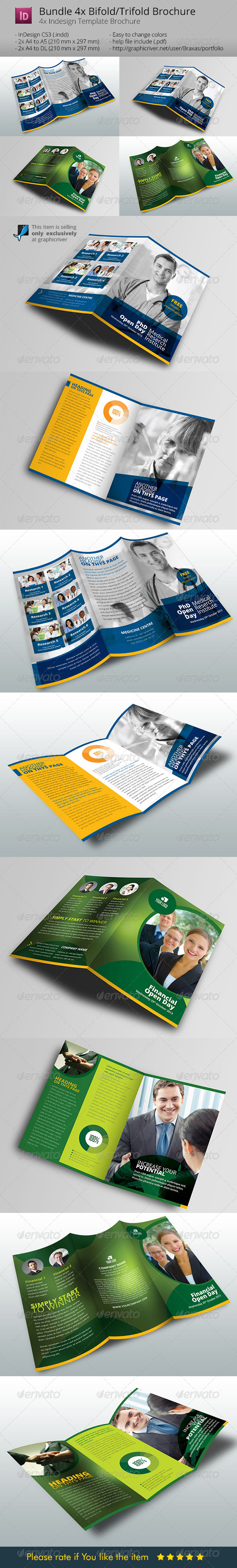 GraphicRiver Bundle 4x Brochure Design 6394223
