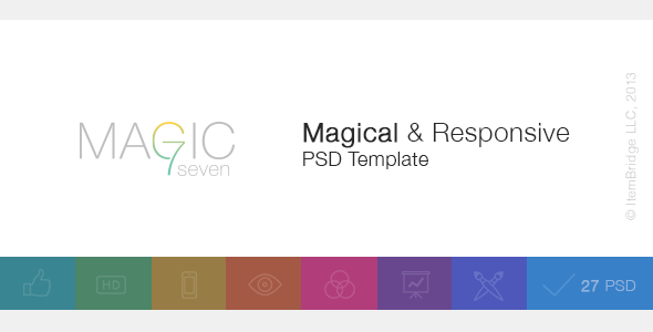 Magic 7 — Magical & Responsive PSD Template