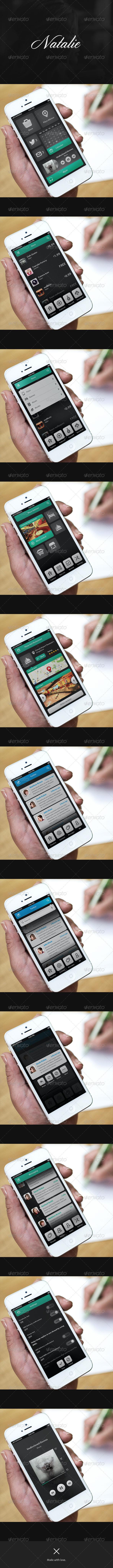 GraphicRiver Phone UI Retina Natalie 6394698