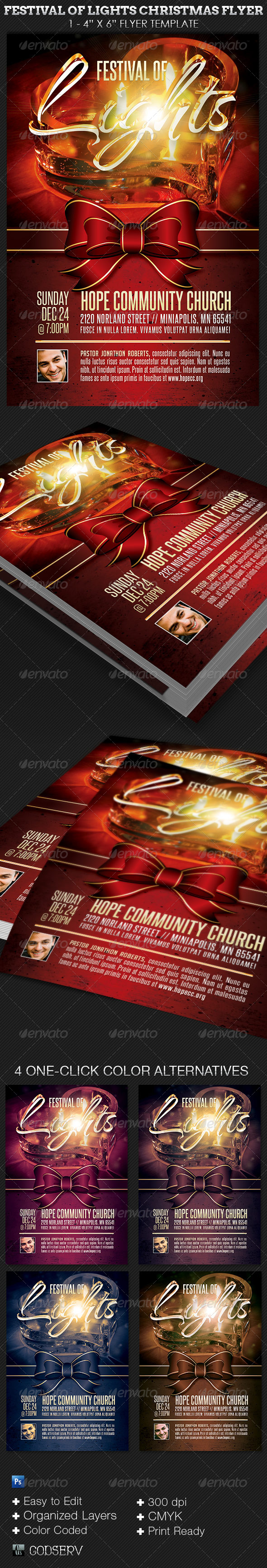 GraphicRiver Festival of Lights Christmas Flyer Template 6361843