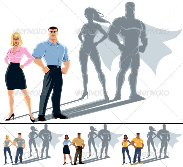 Couple Superhero Concept