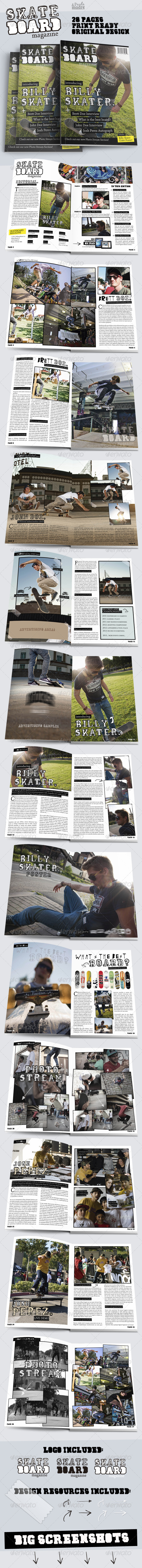 GraphicRiver Skateboard Magazine Template 6395145