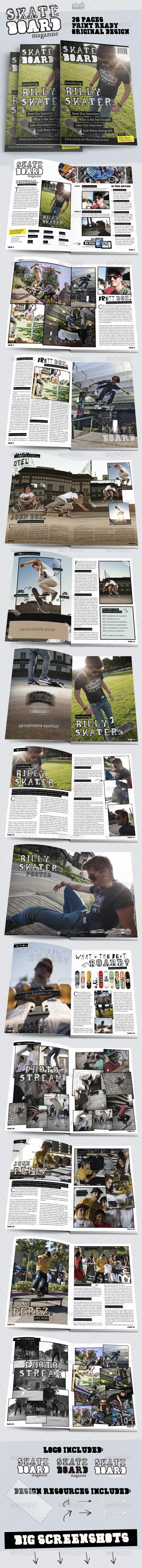 Skateboard Magazine Template - Magazines Print Templates